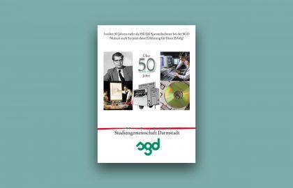 Folder zum 50-jährigen Jubiläum